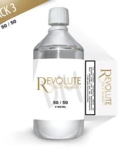 Base 3mg 50/50 1 litre par Revolute