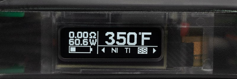 Mode température